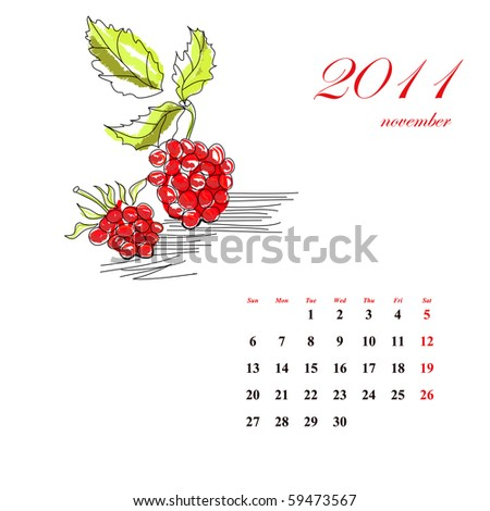 Fruit calendar for 2011, november