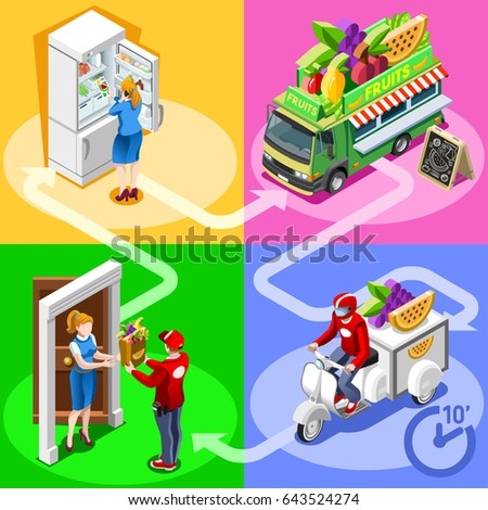 Vector cartoon christmas presents each present stock for Design your own food truck online