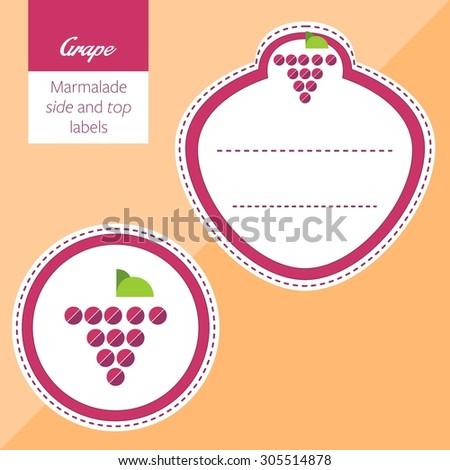 Fruit, grape label graphic - stock vector