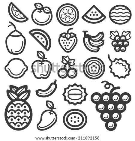 Fruit Icon Black