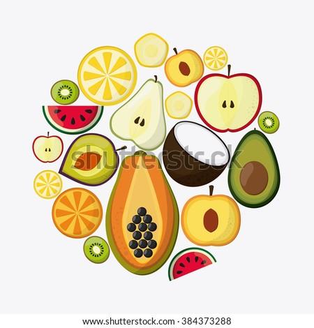 Fruit icon design  - stock vector