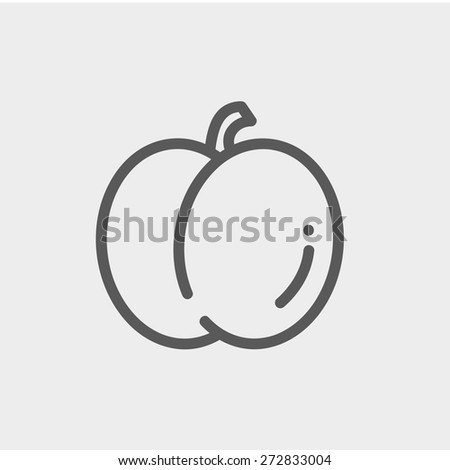 Fruit icon thin line for web and mobile, modern minimalistic flat design. Vector dark grey icon on light grey background. - stock vector