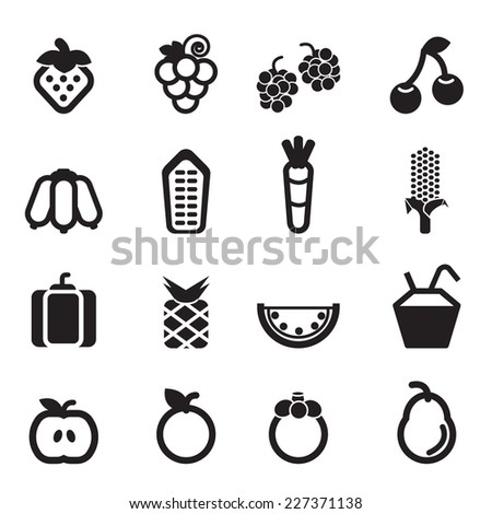 Fruit Icons Vector files.