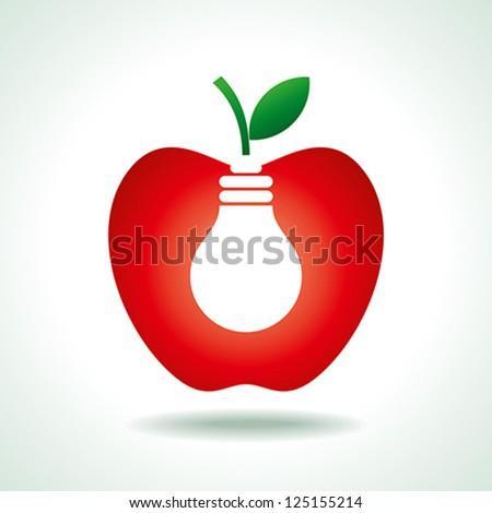 fruit idea - stock vector