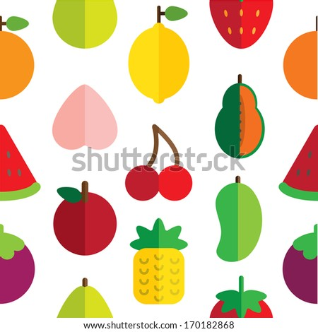 fruit pattern - stock vector