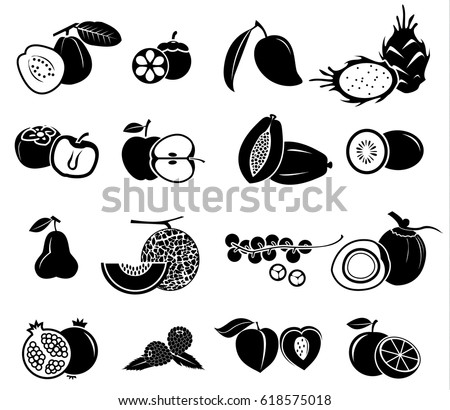 fruit vector icon set