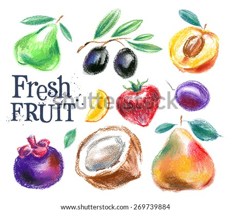 fruit vector logo design template. food or harvest icon. - stock vector