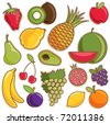fruit vector set - stock vector