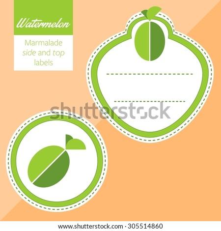 Fruit, watermelon label graphic - stock vector