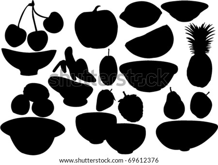 Fruit Silhouette Stock Photos, Images, & Pictures ...