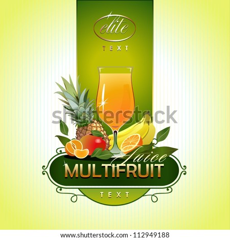 Fruits. Fresh juice. Vector - stock vector