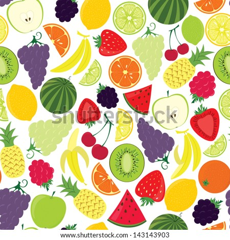 Fruits (seamless pattern)