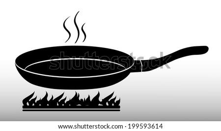 Frying pan - stock vector