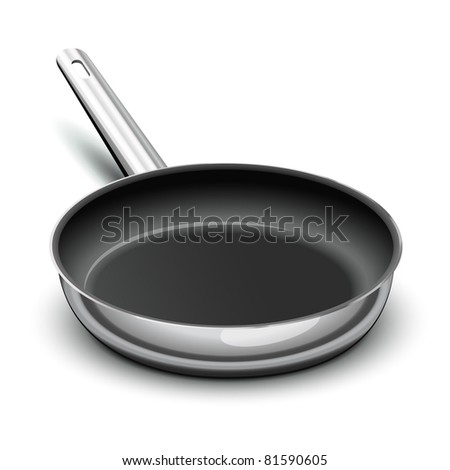 Frying pan for cooking - stock vector