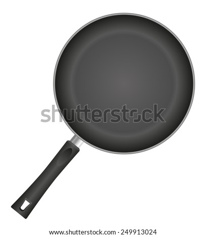 frying pan vector illustration isolated on white background - stock vector