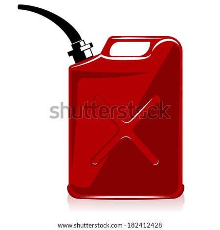 Fuel container or gas can. vector - stock vector