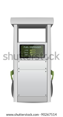 Fuel Dispenser Vector Isolated on White - stock vector