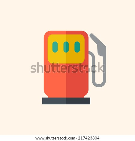 Fuel Flat Icon - stock vector