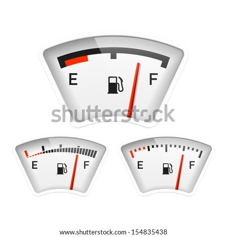 Fuel gauge. Vector. - stock vector