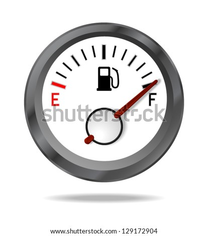 Fuel indicator shows full fuel level. Vector illustration