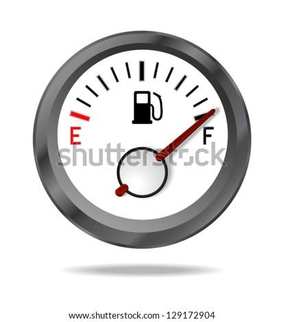Fuel indicator shows full fuel level. Vector illustration - stock vector