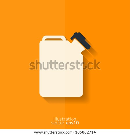 Fuel jerrycan icon. Flat design. - stock vector