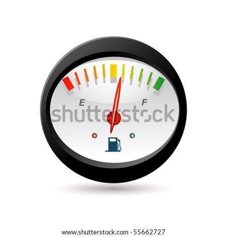 fuel level icon - stock vector