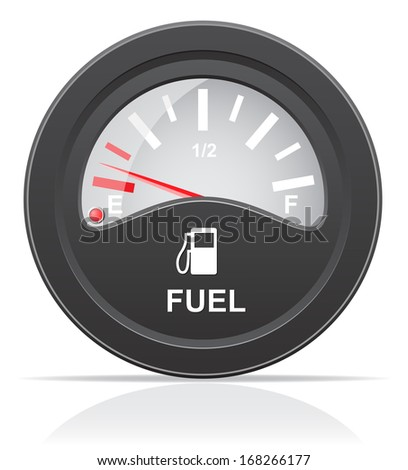 fuel level indicator vector illustration isolated on white background