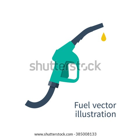 Fuel pump icon. Petrol station sign. Gas station sign. Gasoline pump nozzle. Fuel background. Vector illustration, flat design. Gasoline pump with drop.