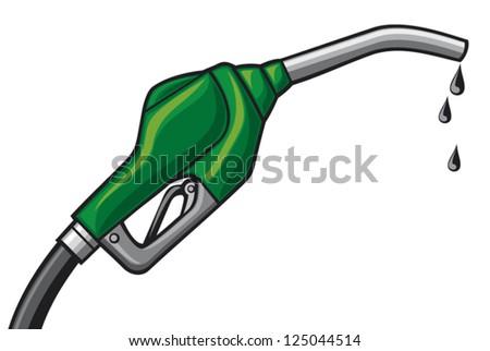 fuel pump vector (gasoline fuel nozzle, gas pump hose, gas pump hose fuel dispenser) - stock vector