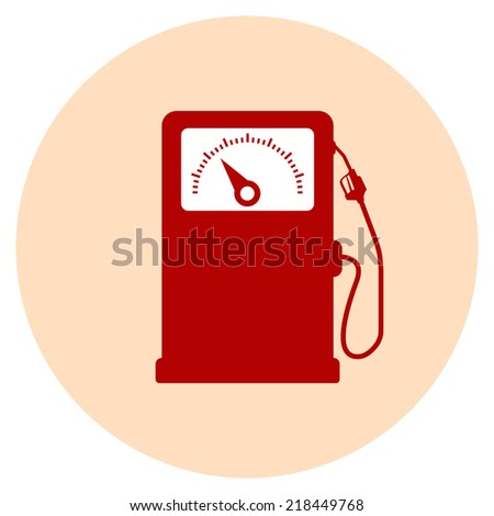 fuel station icon flat - stock vector