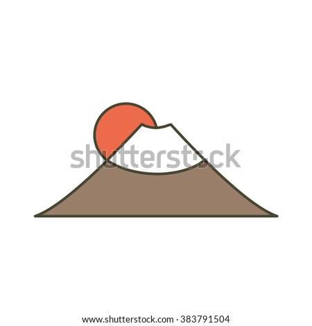 Fujiyama icon. vector illustration - stock vector