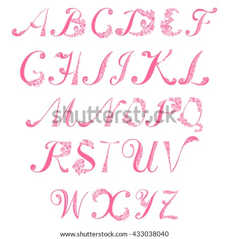 Full Abc Alphabet Letter Set  Stock Vector