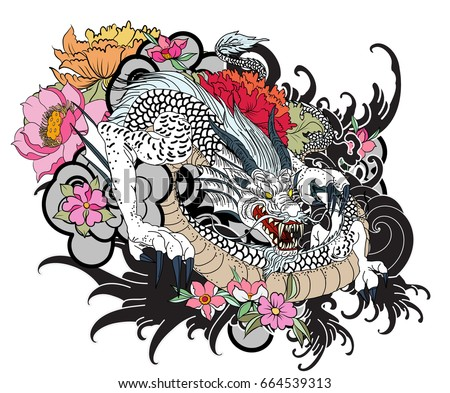 100 chinese dragon tattoos vector vector for Triple antibiotic ointment on tattoos