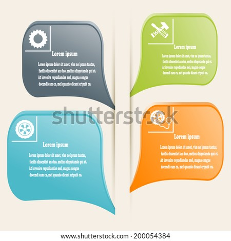 Full-color elements of infographics. Vector illustration