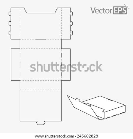 Full overlap closure - stock vector
