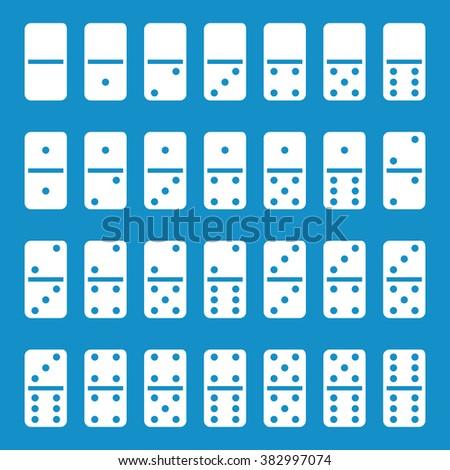 Full set of domino . Vector illustration - stock vector