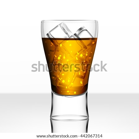 Full vector beer glass