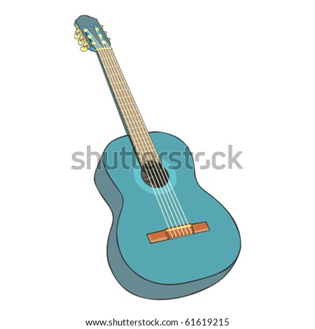 fully editable  illustration classic guitar