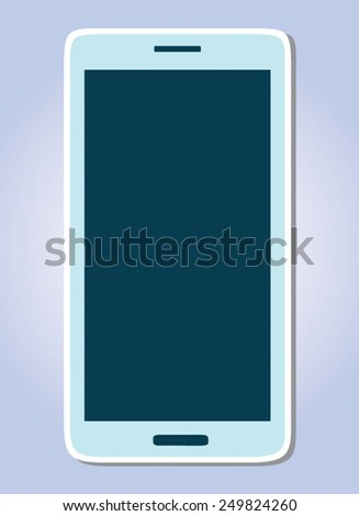 Fully editable vector concept of smart phone - stock vector