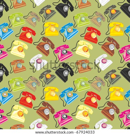 fully editable vector illustration seamless pattern isolated phones