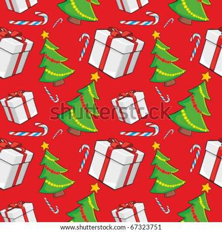 fully editable vector illustration seamless pattern with christmas items