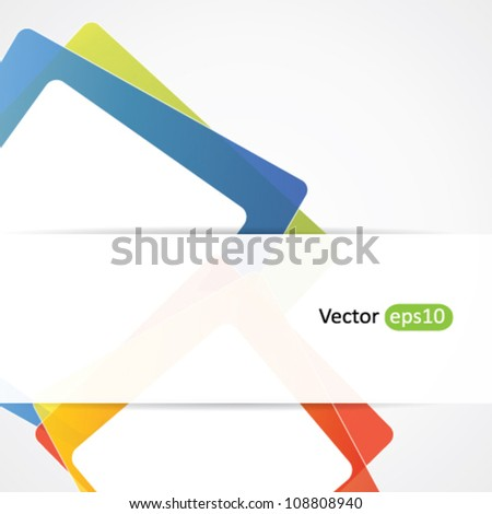 Fun abstract vector background with transparent banner for text or advert - stock vector
