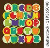 fun alphabet design. vector illustration - stock vector