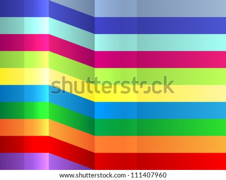 Fun and colorful bending stripes background, great for text,very dynamic wrapping paper imitation.