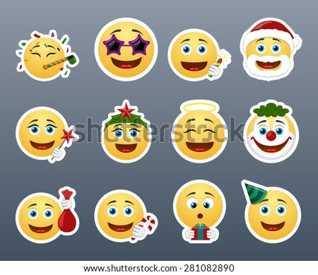 Fun and joy in the country smiles on winter vacation - stock vector