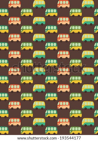 fun cars pattern design. vector illustration