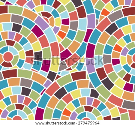 Fun colorful mosaic  background  - stock vector
