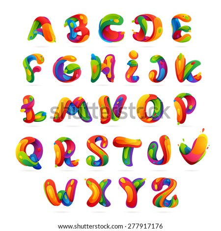 Fun English Alphabet Letters Set Font Stock Vector 277917176 ...