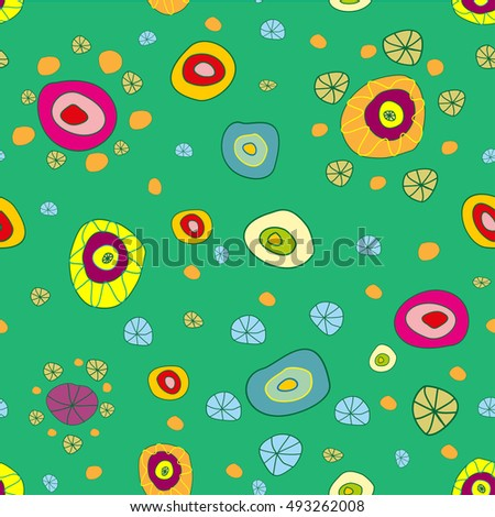 Fun green seamless background pattern